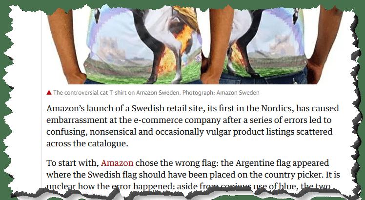 Amazon Sweden Launch